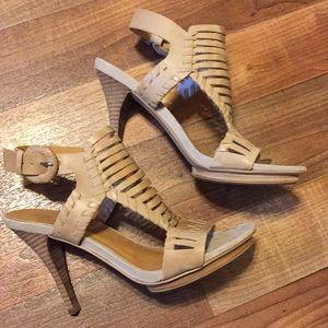 Nine West strappy open toe heels size 7M